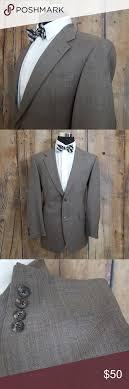Tommy Hilfiger Sport Coat Mens 41r Wool Brown Good Used