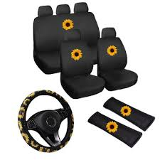 car seat covers car truck sunflower