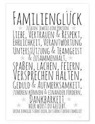 Zeit Raum Kunstdrucke Zutaten Familienglück Poster Online Bestellen