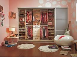 ideas brilliant girls bedroom for kid decor showing charming in wall closet with cool big