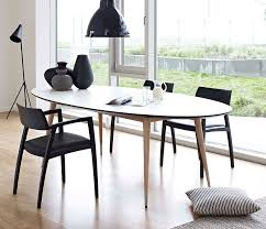 retro oval extendable dining table