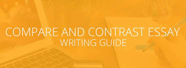 how to write a compare and contrast