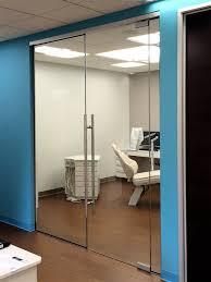 open office doors. Delighful Open A Frameless Door System Creates An Open Dental Office Space And Open Office Doors I
