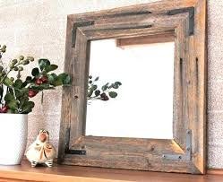 wood mirror frame. Framing A Mirror With Wood Reclaimed Frame Inspirational Best Pallets And Images .