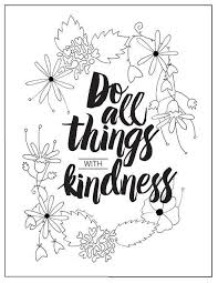With Kindness Coloring Page Color Book Pages Free Adult Coloring