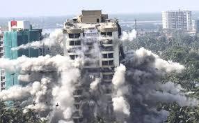 Maradu Flats: Watch Kochi Luxury Flats Come Crashing Down In Seconds During Demolition