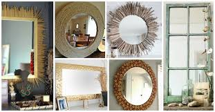 Diy mirror frame ideas Design 10 Impressive Ways To Embellish The Old Mirror Frame My Amazing Things Diy Mirror Frame Ideas Archives My Amazing Things