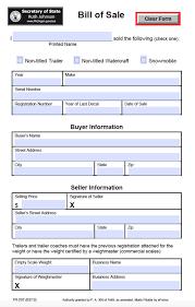 Michigan Motor Vehicle Bill Of Sale Form Tr 207 Eforms Free