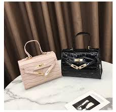 <b>Designer Handbags</b> Leather Handbags Crocodile Print Carrie Bag ...