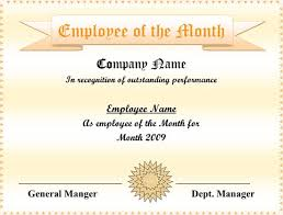 Performance Certificate Sample 5 Employee Of The Month Certificate Templates Word Pdf Ppt
