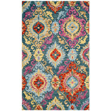 safavieh suzani blue multi 5 ft x 8 ft area rug