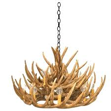 faux deer antler chandelier white