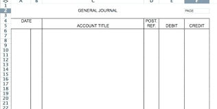 Accounting Ledger Template General Journal Excel Printable Entry ...