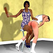 Black femdom white boi spanking