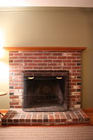 captivating brick mantel fireplace feature brown wooden