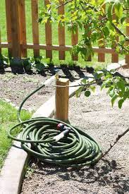 an extended outdoor faucet to your garden