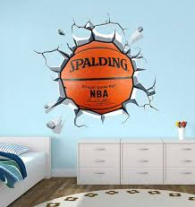 basketball decal sticker vinyl wall decal housewares home