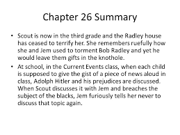 to kill a mockingbird chapters notes ppt  chapter 26 summary