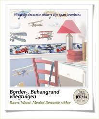 Behangrand Kinderkamer Vliegtuigen Jerma Thuis In Decoraties