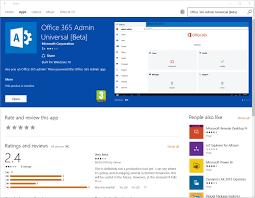 Windows 365 Office Office 365 Admin App For Windows 10