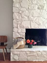 ... painted stone fireplace. Greige Design