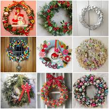 Entry door decorated with wreath is a great announce of your Christmas  spirit. Christmas wreaths can actually be made out of just about anything.