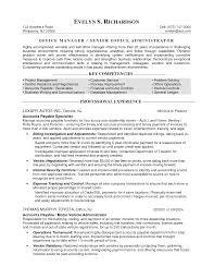 Resume Profile For Office Manager Oneswordnet