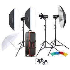 Professional Photography Studio Lighting Equipment Godox E300 D Professional Photography Photo Studio Speedlite Lighting Lamp 3 300w Studio Flash Strobe Light Kit Set