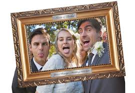 traditional ornate picture selfie frame photo booth wedding fancy dress party