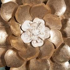 luxen home metal flower wall decor