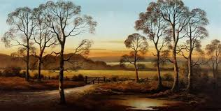 Sunset through the trees by Wendy Reeves on artnet
