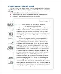Apa Style Introduction Example 8 Apa Format Examples Free Premium Templates