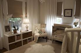 borghese mirrored furniture. Adorable Chic White Gender Neutral Nursery Design With Borghese Mirrored Chest Changing Table, Ivory, Tufted, West Elm Linen Cotton Grommet Window Panels Furniture Y
