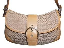 Coach Large Flap Classic Classic Signature Signature Hobo Bag ...