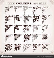 Vintage Design Vintage Design Elements Corners And Borders Set 4 Stock