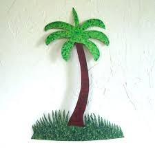 metal palm tree wall art palm tree wall art custom made handmade metal palm tree wall