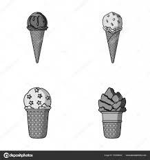 ワッフル コーンや他の種に棒アイス クリームアイスクリームは