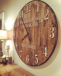 chic oversized wooden clock large rustic wall hendoevanburgh info clocks and also with ideas 19 wood cut out numbers
