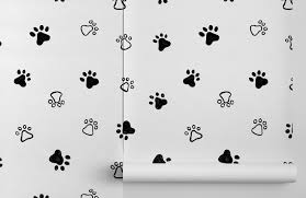 Dog Paw Print Pattern Wallpaper ...
