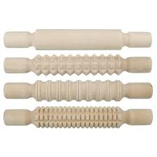 Patterned Rolling Pin Beauteous Set Of 48 Patterned Wooden Rolling Pins For Use With Modelling Clay