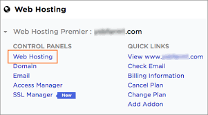 Access the Web Hosting Control Panel