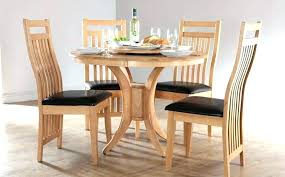 round kitchen table with 4 chairs small and image of trendy cream dini