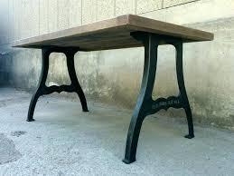 outdoor table legs rod iron table legs vintage industrial style oak dining table on cast iron outdoor table legs