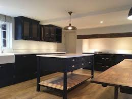 Shaker style kitchen cabinetry painted in Little Greene Paint ...
