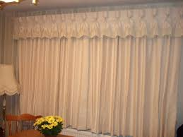 lined curtains with goblet headed valance