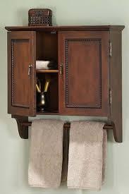 Bathrooms Cabinets : Bathroom Wall Cabinets With Towel Bar ...