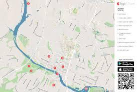 austin printable tourist map  sygic travel