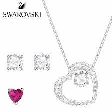 order product swarovski swarovski love necklace 5391766 heart pierced earrings set lady s auktn