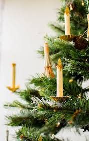 Artificial Christmas Tree Candle Lights Paper Candle Christmas Tree Ornament Diy Christmas