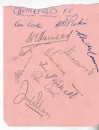 11 Chesterfield FC autographs c1950s incl Tom Flockett Ken Booker H Parkin  etc   #305265916